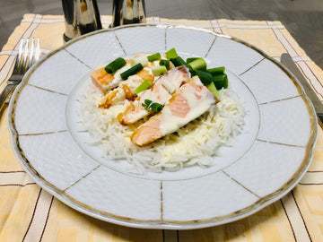 Pan Fried Atlantic Salmon with Rice (GF)