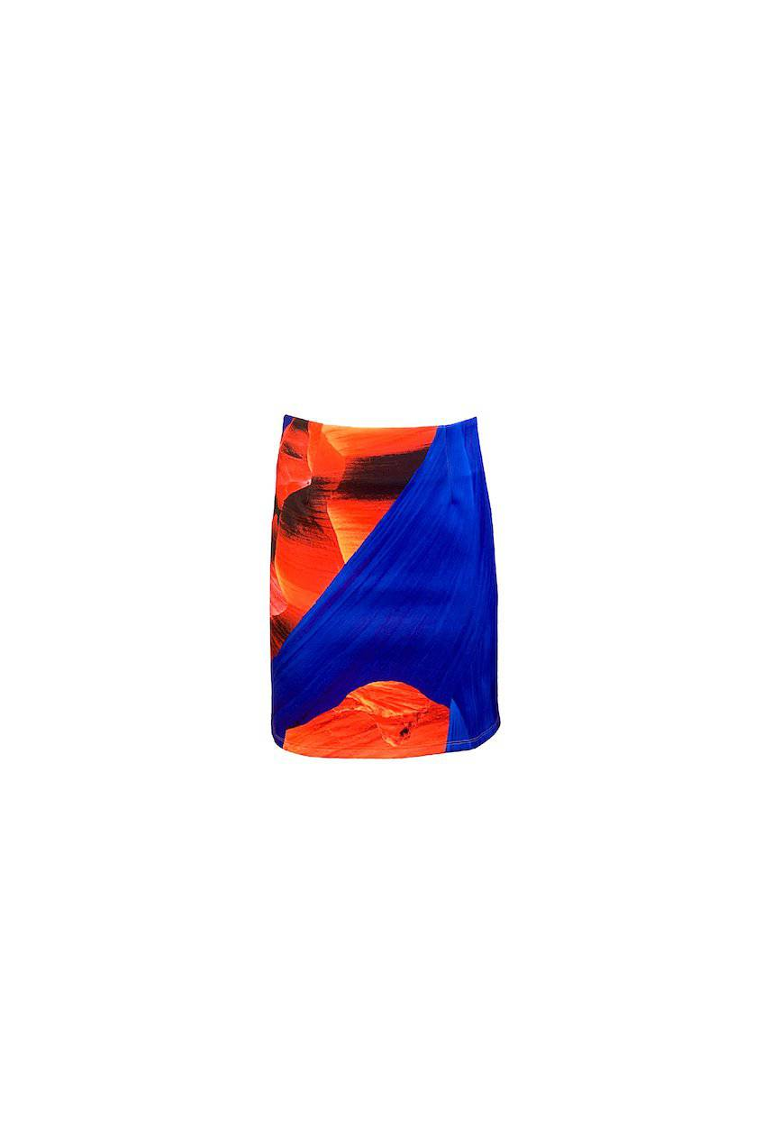 WAVE BLUE LAURA SKIRT - Bec Boyle