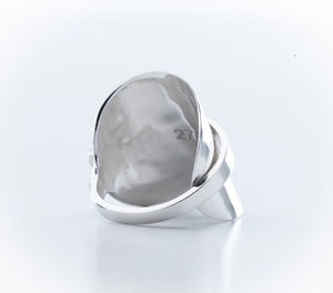Vintage Silver Spoon Ring, Size V, Sheffield, 1954