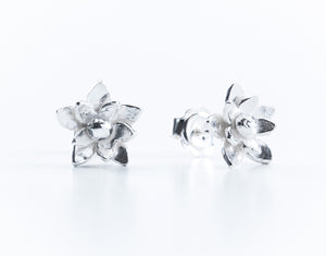 Silver Daffodil Stud Earrings