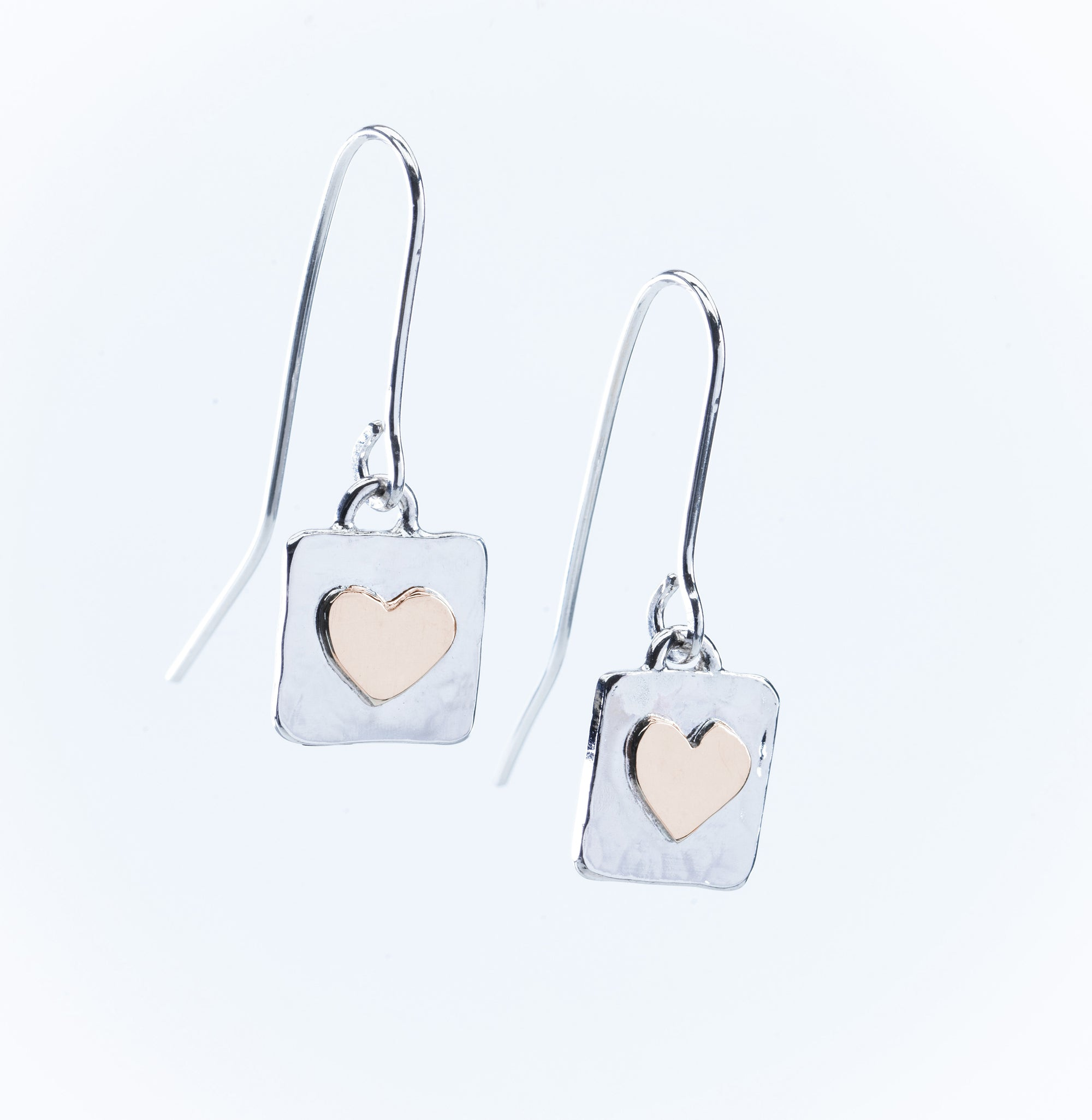 Sterling Silver and 9ct Gold Drop Earrings