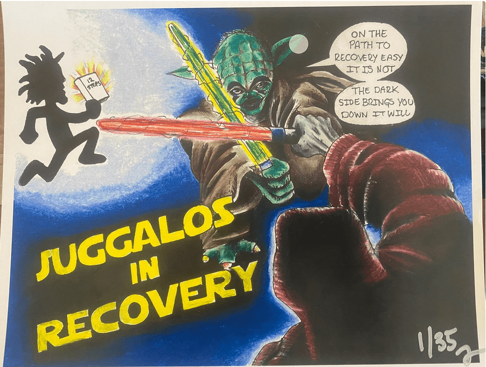 Juggalos in Recovery, Addiction, what is a juggalo, happy living, how to start loving yourself, what is personal growth, what is emotional sobriety, how to help an addict, what is addiction, how to deal with trauma, star wars
