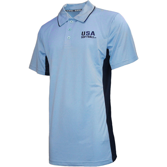 USA Softball Umpire Polo Powder Blue (#1030)