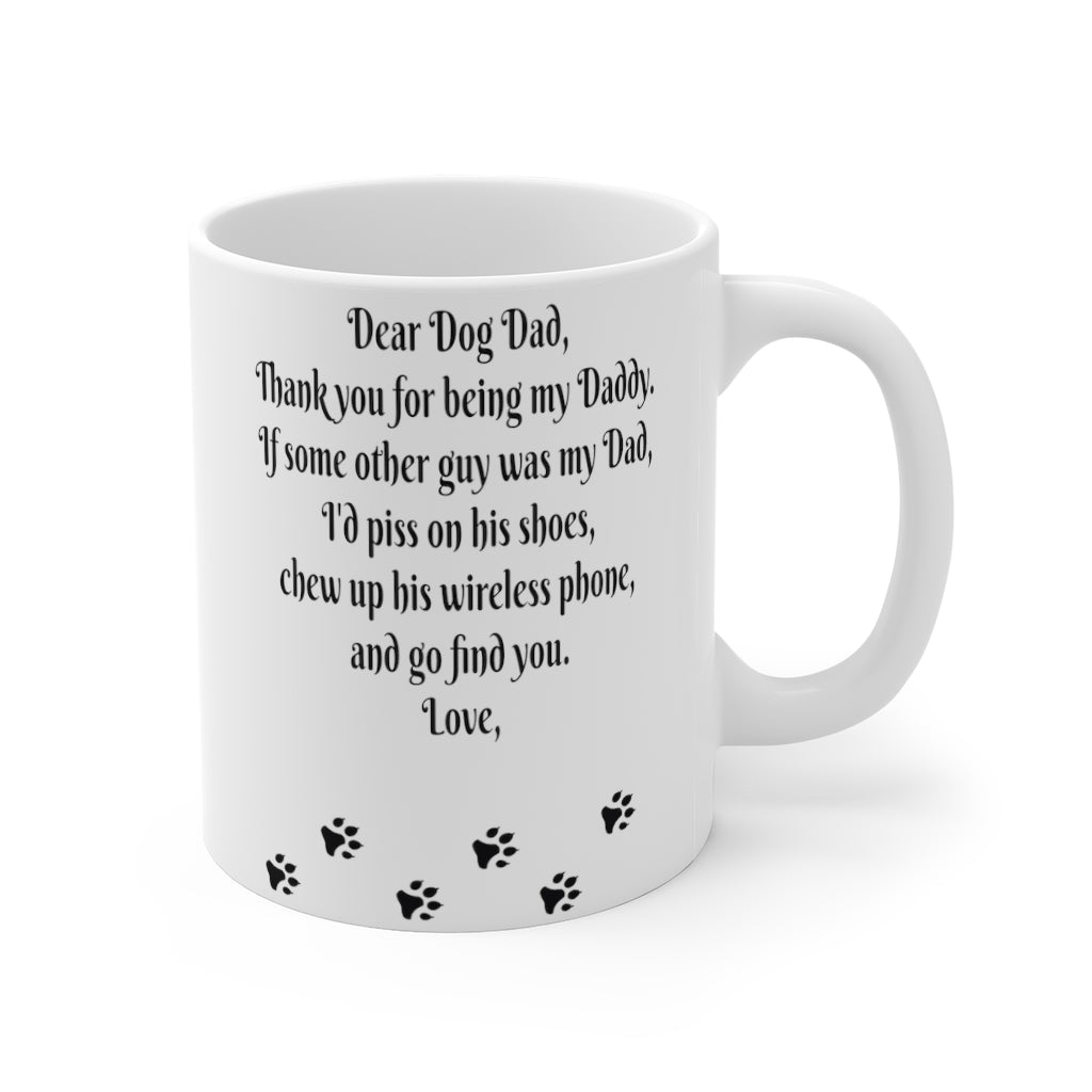 Dog Dad Funny Mug, Dad Love