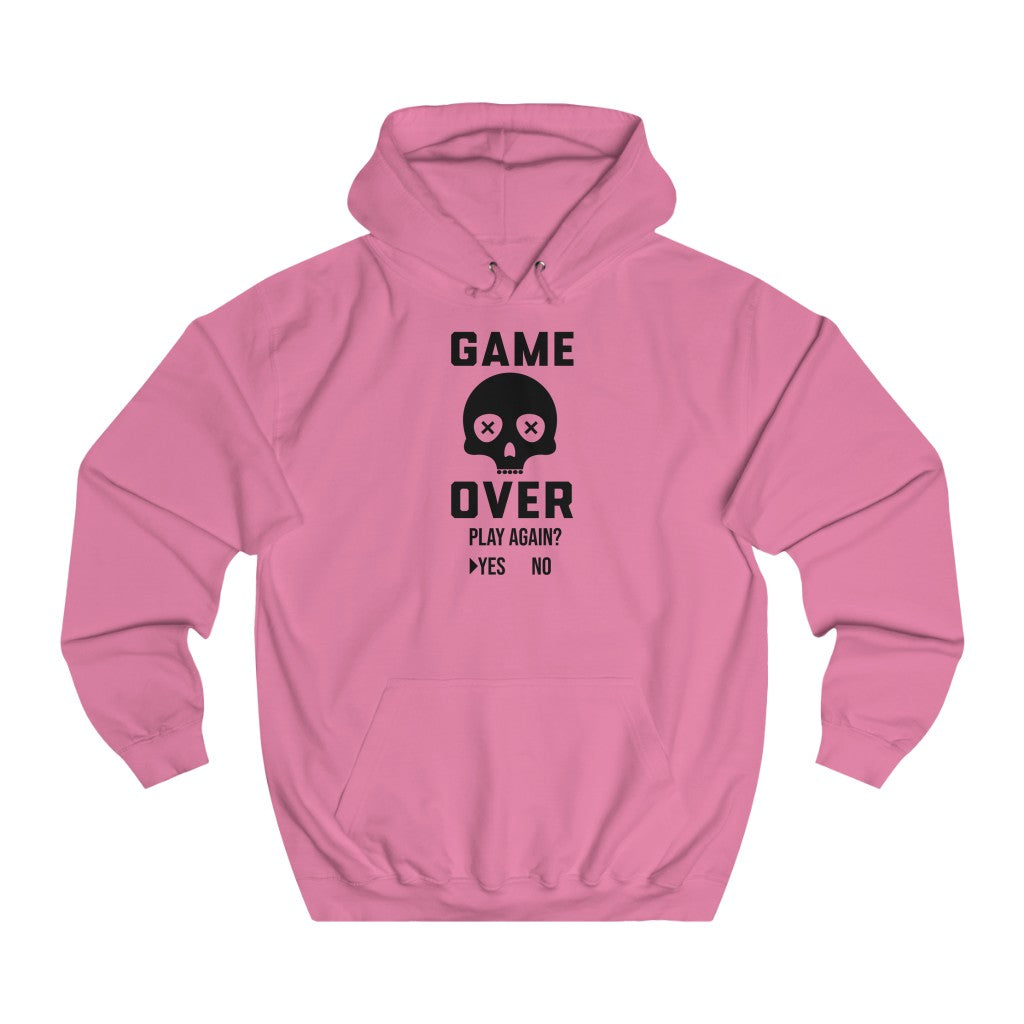Game Over, for Game Lover, Unisex College Hoodie