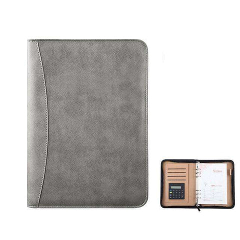 Carnet de Notes Luxe Padfolio Avec Calculatrice (Cuir) - Deways