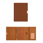 Carnet de Notes Luxe à Clips Doré (Cuir) - Deways