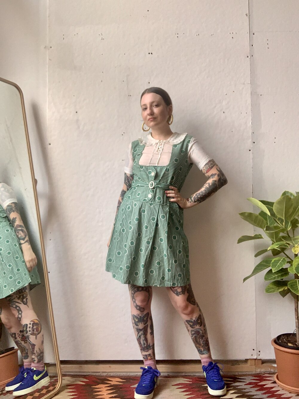 20s 30s Polka Dot Cotton Dress