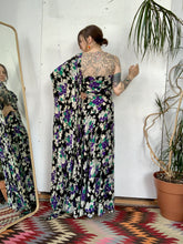 Load image into Gallery viewer, 1940s Strapless Floral Gown