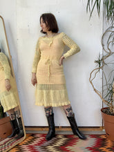 Load image into Gallery viewer, 70s does 30s Crochet Dress
