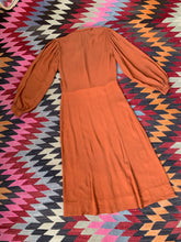 Load image into Gallery viewer, 1930s Orange Crepe Dress