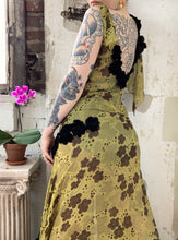 Load image into Gallery viewer, 1930s Chartreuse Lamé Gown