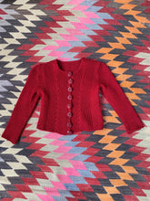 Load image into Gallery viewer, 1940s Red Cardigan