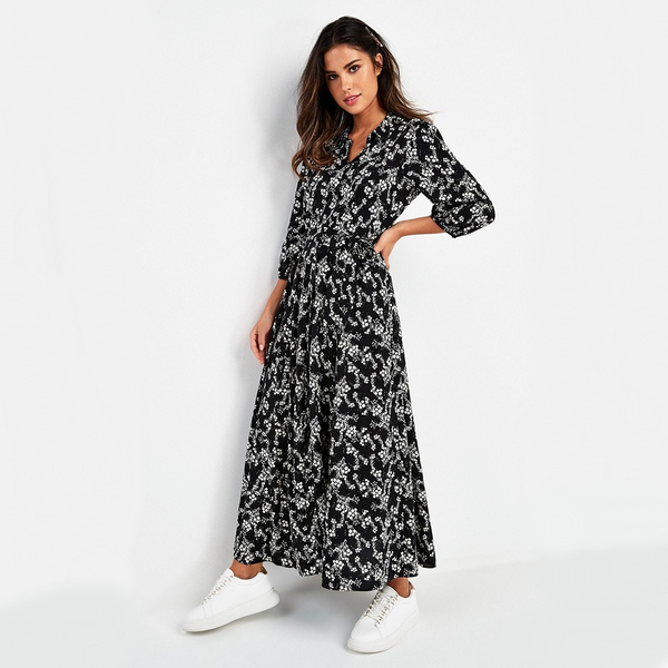 Amanda Button Front Maxi Dress
