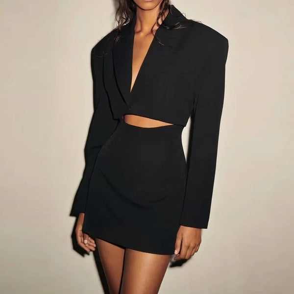 Rachel Cut-Out Mini Blazer Dress