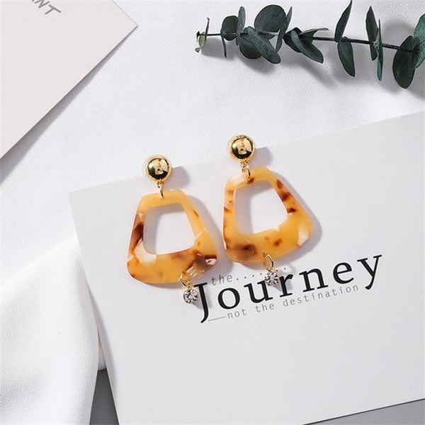 Lin Funky Square Earrings In Multicolor - Mad Jade