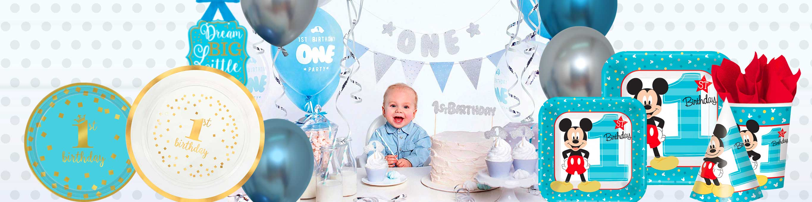 6 Most Favorite Boys' 1st Birthday Party Themes: The Party Supplies You Will Need To Celebrate - MyPartyCentre