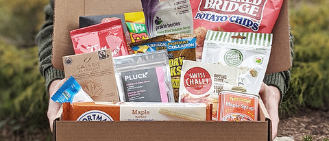 Canuck Crate care package with snacks