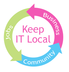 Local business creates local jobs, increases community value, keep it local