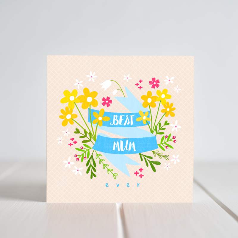 "Irish made Greeting Cards by Fleur & Mimi. ""Best Mum"""