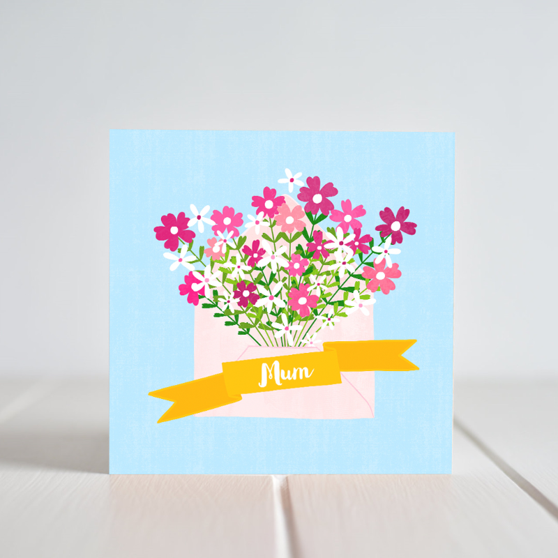 Brighten up your Mum's day with this lovely card. Greeting Cards made in Ireland by Fleur & Mimi.