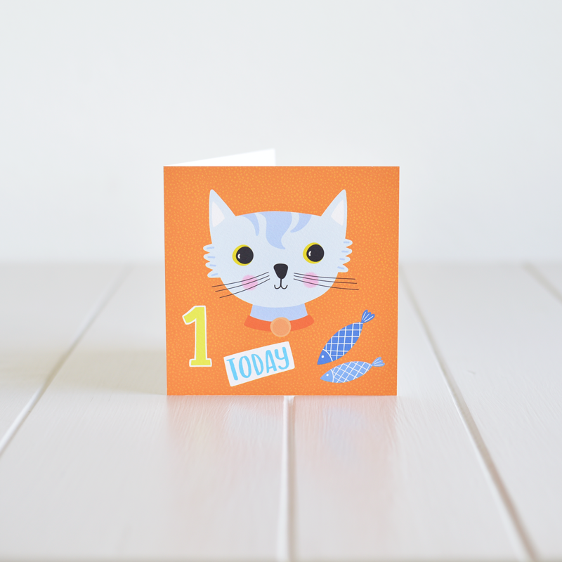Irish made greeting card for a first birthday by Fleur & Mimi in Co. Tipperary