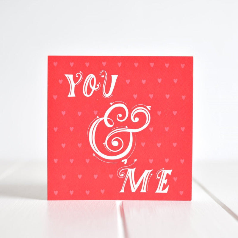 """You and Me"" - a greeting card for the one you love! Made in Ireland by Fleur & Mimi"