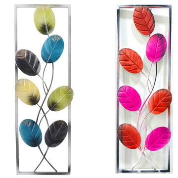 Wall Mounted Metal Large Tree of Life Wall Art Sculpture Decor   Hanging for Home, Living Room Vintage Modern Decorative Antique (Multicolor; lxb ;16 inch x 5 inch) Pack of 2