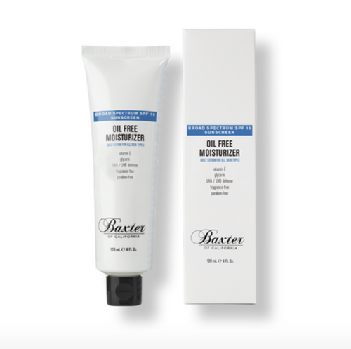 Baxter of California oil free moisturiser spf 15