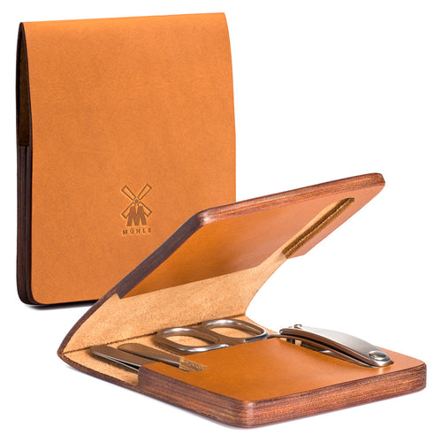 MUHLE Manicure Set Cowhide Leather Case