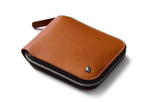 bellroy zip wallet caramel