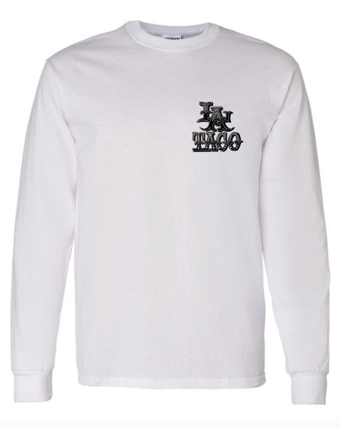 Long Sleeve T Shirt by Bonks (White)