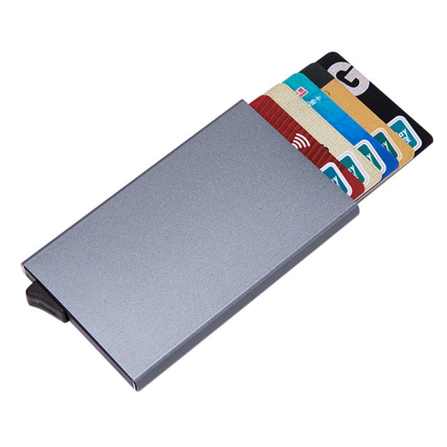 Minimalist aluminium card holder