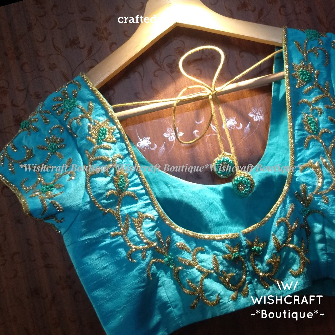 Trendy Maggam work Blouse Design 336