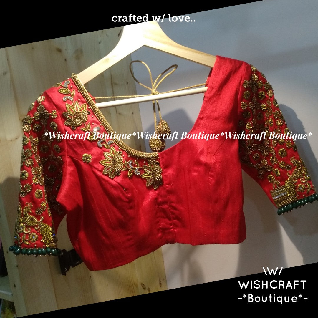 Bridal Blouse Maggam Work Blouse Design 346