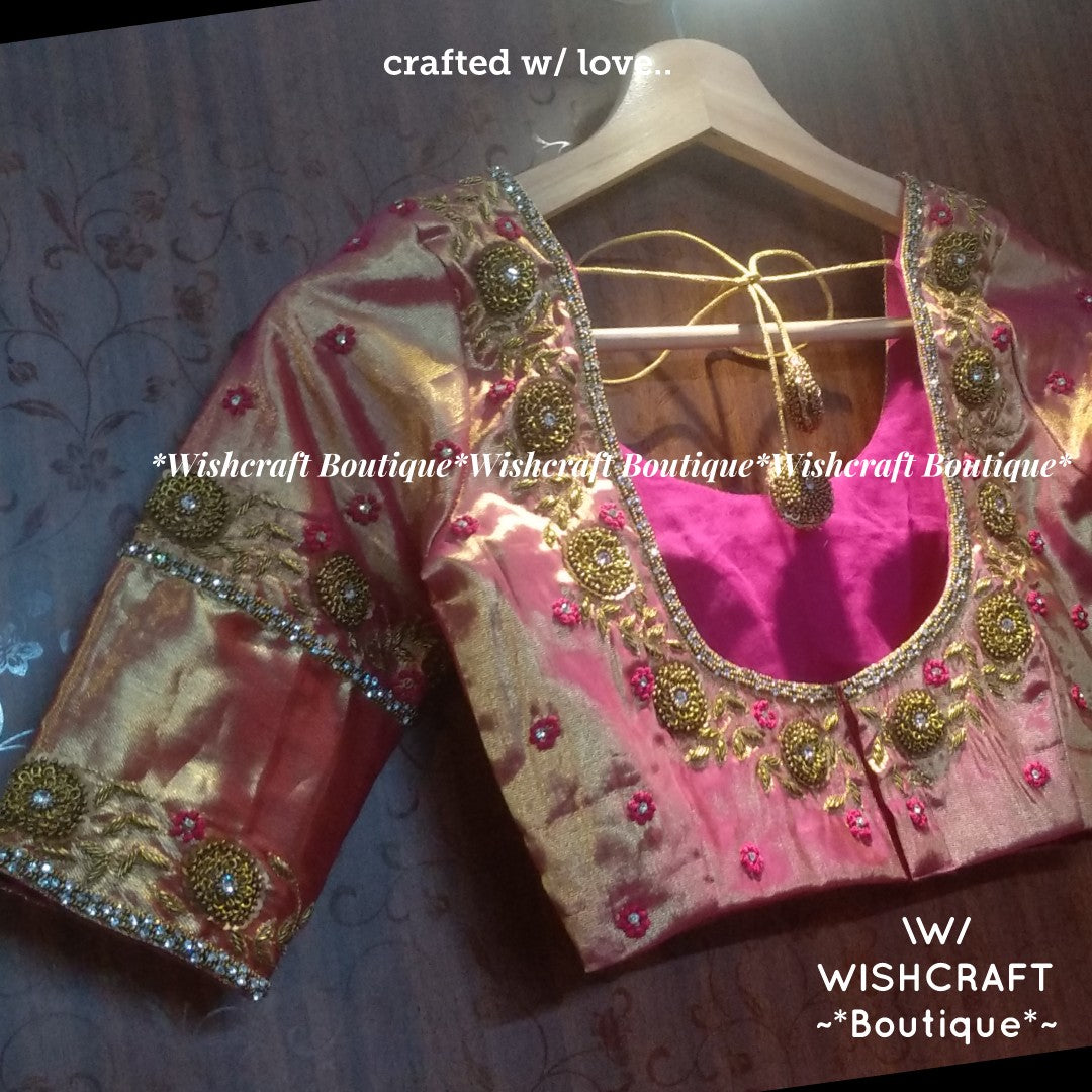 Bridal Blouse Maggam Work Blouse Design 345