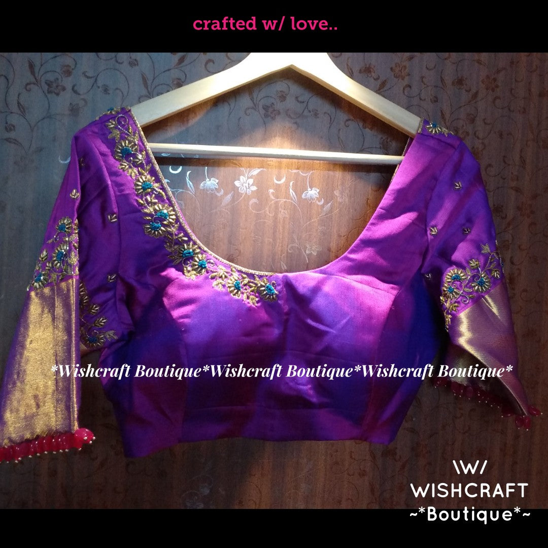 Designer Maggam Work Blouse with Threadwork Design 359
