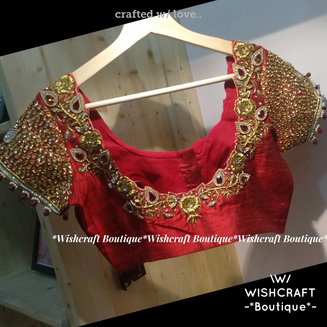 Handcrafted Maggam Work Blouse Design 366