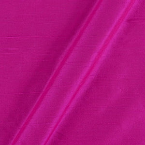 Pure Rawsilk 100 GM - Hot Pink Color - free home delivery