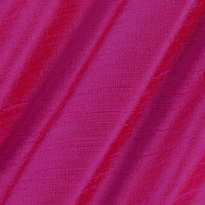 Pure Rawsilk 100 GM - Rose Pink 2 tone Color Fabric - free home delivery