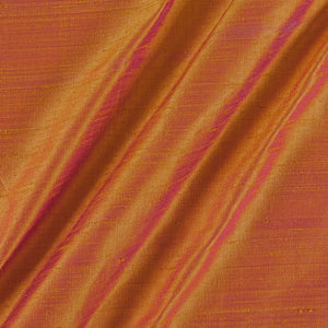 Pure Rawsilk 100 GM - Yellow 2 tone color Fabric - free home delivery