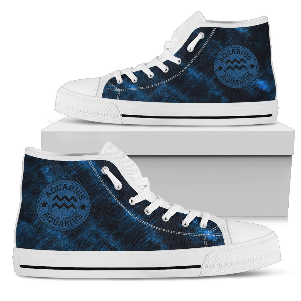 Aquarius Stamp Tie Dye High Top Shoes