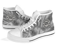Load image into Gallery viewer, Aquarius Stamp Tie Dye High Top Shoes