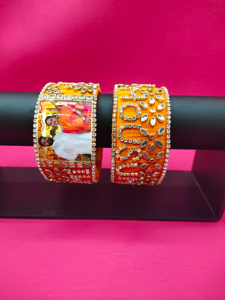Name with Photo Thread bangles