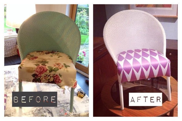 before and after lloyd loom chair