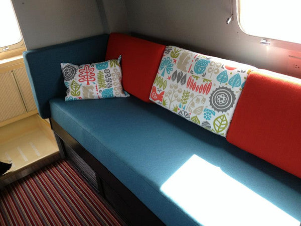 Airstream upholstery makeover