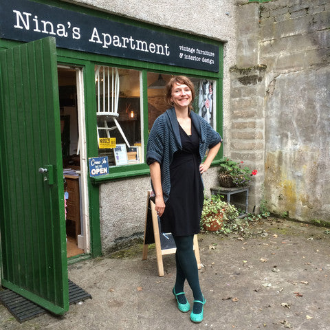 Nina in front of her shop Nina's Apartment in Inverurie