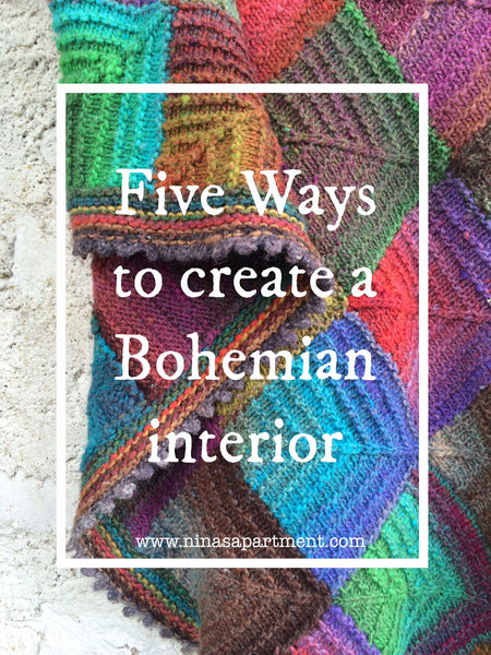 Five easy ways to create a bohemian decor with vintage and house plants
