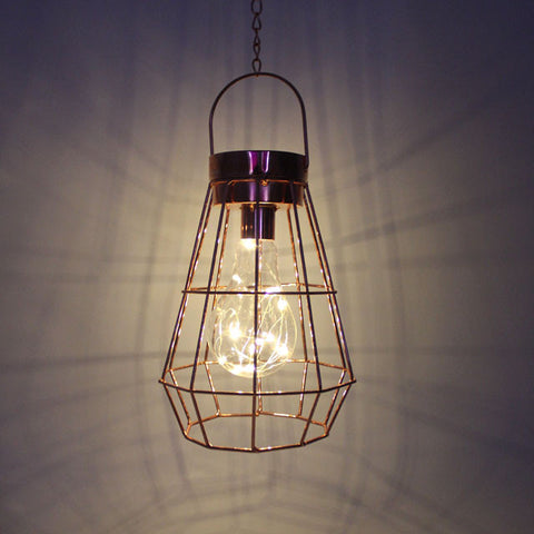 Geometric metal cage pendant lamp