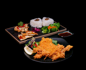 Crispy Chicken Cutlet Bento